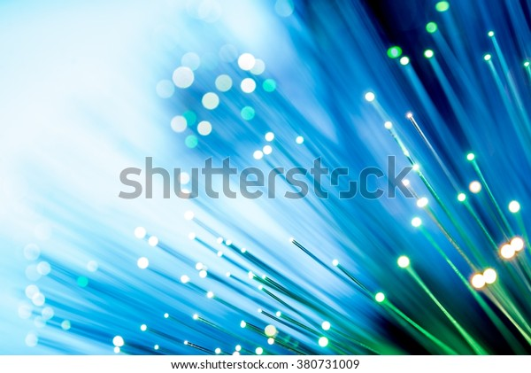 Glowing Fiber Optic Channels Closeup Photo. Fiber Channel Background.