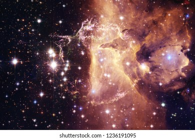 Glowing galaxy, awesome science fiction wallpaper. Elements of this image furnished by NASAnd