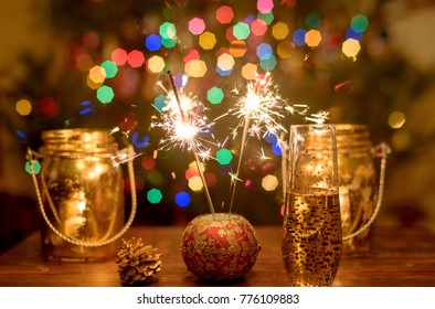 Glowing holiday lights and sparklers to celebrate the holidays