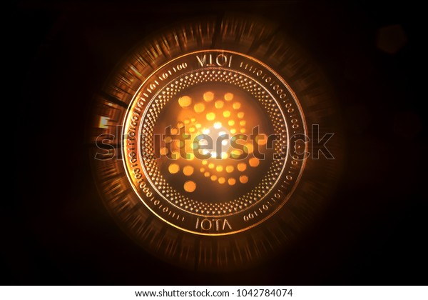 glowing iota crypto coin