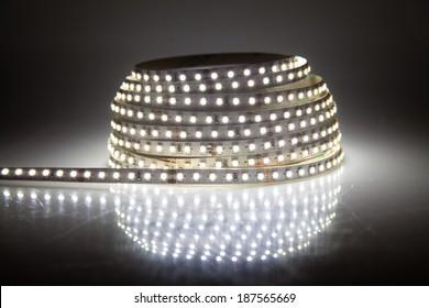 Glowing LED garland, strip