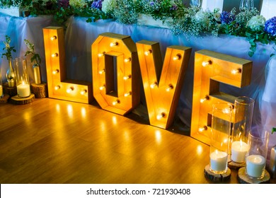 glowing love letters