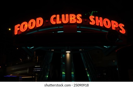 Glowing neon signs to food, clubs and entertainment