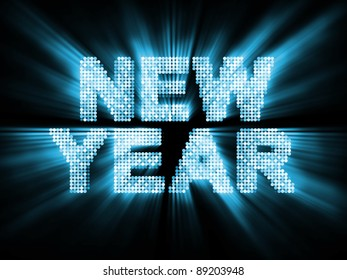 Glowing New Year Background