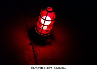 glowing red light