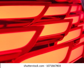 Glowing red OLED lamellas