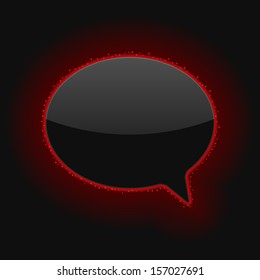 Glowing Speech Bubble. Raster version