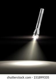 glowing torch light