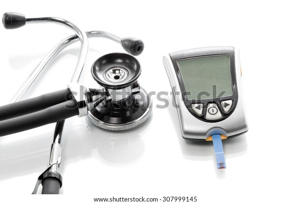 Glucose concentration in the blood test with a blood glucose meter