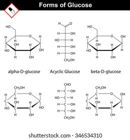 Carbohydrate molecule stock images royalty free images vectors structural chemical formulas of cyclic and acyclic forms 2d raster isolated publicscrutiny Gallery