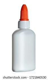 Glue bottle isolated on white background