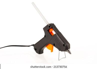 Glue gun isolated on white