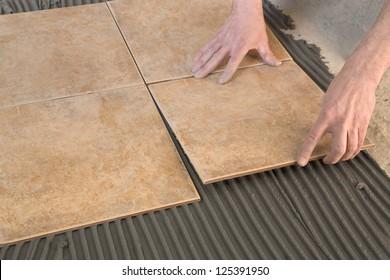 gluing tiles