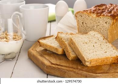 Gluten free bread for breakfast