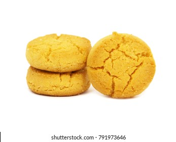 Gluten free cookies, isolated on white
