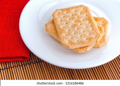 Gluten free crackers. Close up.