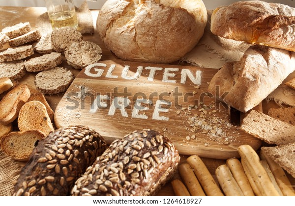 Gluten Free Food Various Pasta Bread Stock Photo Edit Now