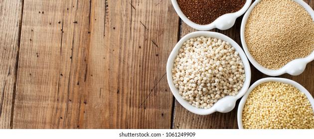 Gluten free grains  -  amaranth,  sorghum grain, teff and millet