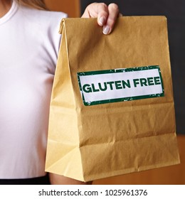 Gluten Free Order in cafe in a brown paper bag