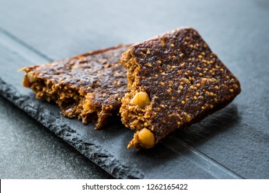 Gluten Free Raw Fruit Bar with Dried Fig, Walnut and Date Fruit