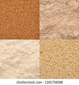 gluten free teff grain and flour, ivory and brown variety