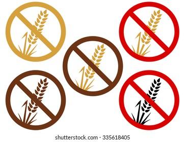Gluten free or wheat free icon