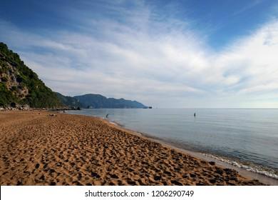 Glyfada Beach of Corfu Island
