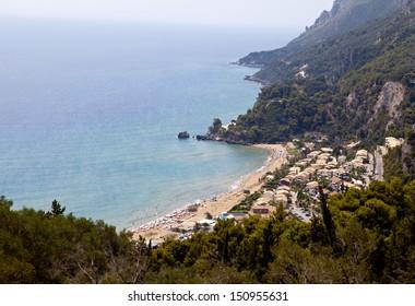Glyfada Beach On the Island of Corfu