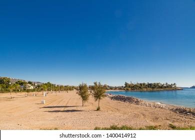Glyfada beach south of Athens in greece