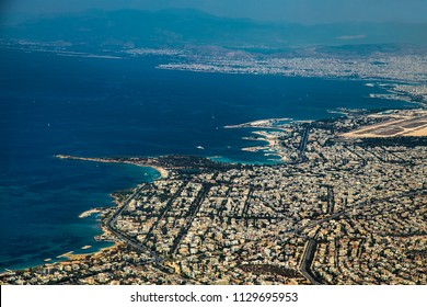 Glyfada  Landscape from the air , near Athens, Greece.