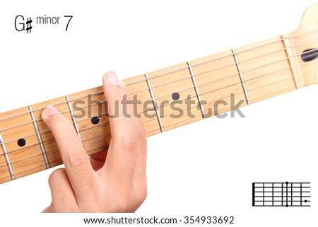 Gm 7 Minor Seventh Keys Guitar Tutorial Stock Photo (Edit Now ...