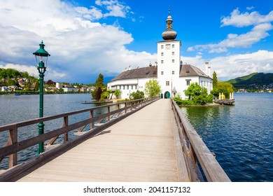 Gmunden Schloss Ort or Schloss Orth in the Traunsee lake in Gmunden city. Schloss Ort is an Austrian castle founded around 1080 year.