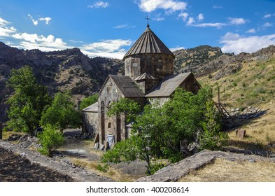 Gndevank monastery in canyon of Arpa river near Jermuk, Armenia