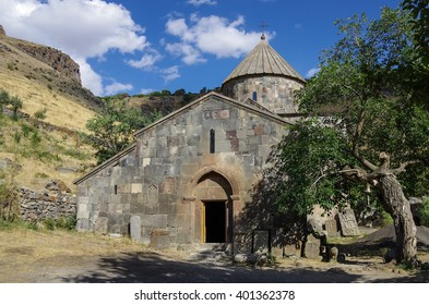 Gndevank monastery in canyon of Arpa river near Jermuk, Armenia