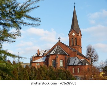 GNIEZNO, POLAND - JANUARY 02, 2016: Catholic church of the Sacred Heart of Jesus in Kiszkowo/Gniezno
