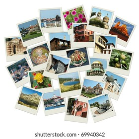 Go Bulgaria - background with travel photos of famous landmarks, all photos were taken by me
