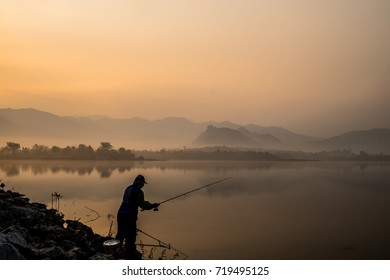Go fishing at the lake in the morning.