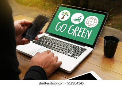 GO GREEN Life Preservation Protection Growth Project About Business Growth GO GREEN , Go Green field , Go green eco grunge arrow creative  , Go Green Refresh Think