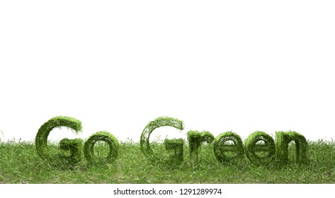 Go Green natural concept isolated on white background