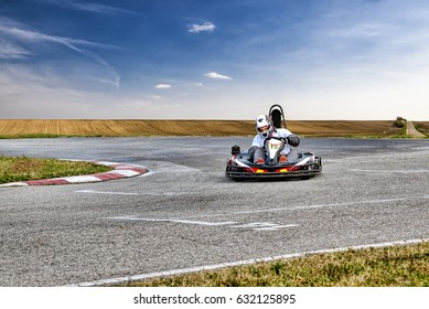 Go Kart Racer on the Track in Nature
