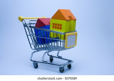 go to the market to buy houses