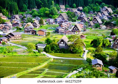 -go in the Spring Evening, UNESCO World Heritage Sites, Japan