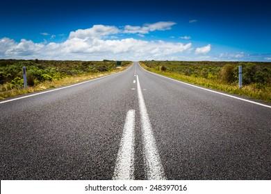 go straight   the long road in Victoria, Australia