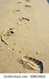 go straight on the beach. footstep.