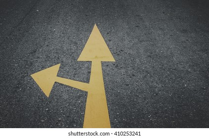 Go straight and turn left sign on street