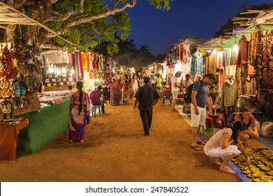 GOA, INDIA - FEBRUARY 22: Goa Night Market on February 22, 2014, Goa, India