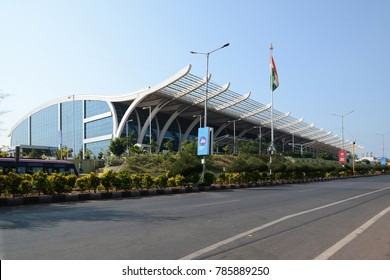 GOA, INDIA - JANUARY 31, 2017: Goa International Airport also known as the Dabolim airport, is the sole airport in the state of Goa, located in the city of Dabolim in Goa, India