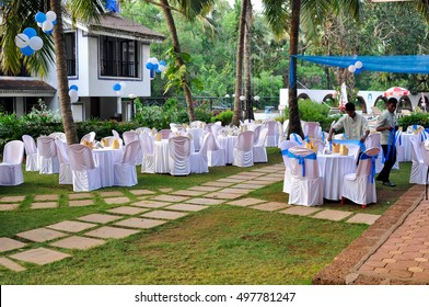 GOA,INDIA - MARCH 13,2014:Holiday in the restaurant in the hotel