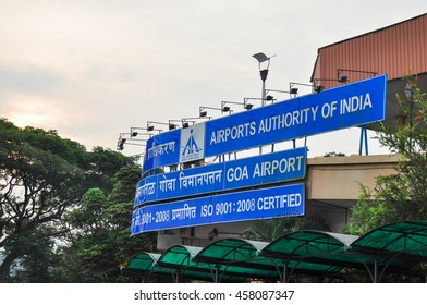 GOA,INDIA - OCTOBER 25,2011:Welcome signs at the airport