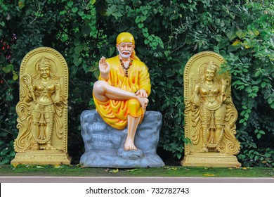 GOA,INDIA-October 2017 : Idol,  statue of shirdi Sai Baba